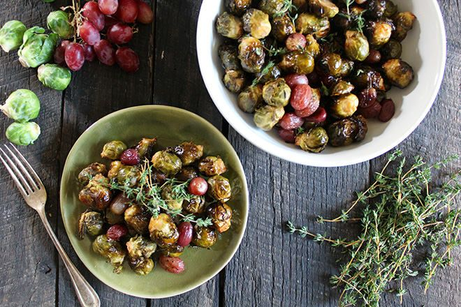Balsamic Brussels Sprouts and Red Grapes   Nutrition Stripped