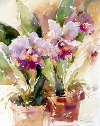 Orchids watercolor  Janet Rogers AWS    http://watercolorsbyrogers.com/pages-janet/janet-rogers-aws.html