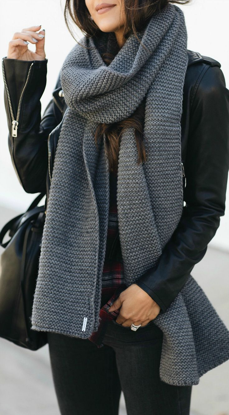 The BEST Cable Knit Scarf Under $100