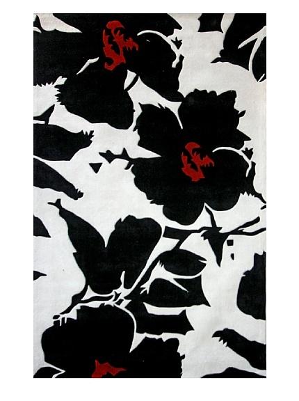 nuLOOM Urban Flower at MYHABIT: Pop Amor, Nuloom Pop, Amor Black, Black Whit Rugs, Area Rugs, Handtuft Rugs, Contemporary Rugs, Black White, Blackwhit Rugs