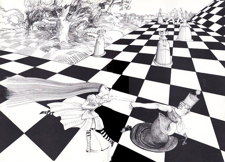 Картинка с шахматами из алисы в стране чудес, прощенное воскресенье