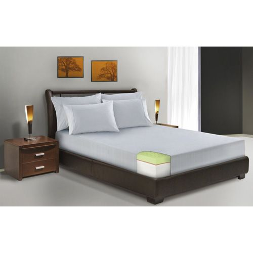 white deluxe 8inch smooth top california king memory foam mattress