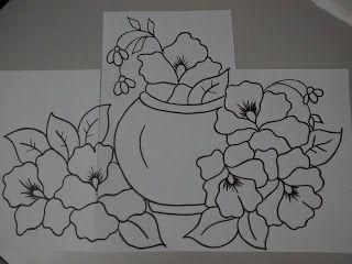 Nanda Rocha: Riscos para pintura em tecido...