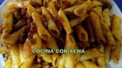 COCINA CON XENA: Macarrones con carne picada etc, en Olla Gm F, E o...