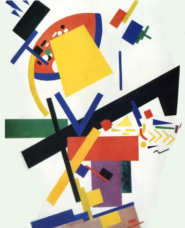 Suprematism Artist: Kazimir Malevich Completion Date: 1915 Style: Suprematism Genre: abstract painting Technique: oil Material: canvas Dimensions: 87.5 x 72 cm Gallery: Russian Museum, St. Petersburg, Russia