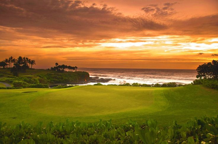 Nirwana golf and Tanah Lot sunset