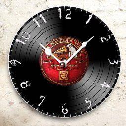 hodiny motiv gramofonová deska - tip na dárek k narozeninám