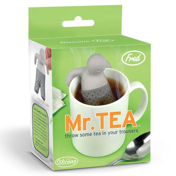 Mr. Tea: Teas Infused, Teas Time, Teas Strainer, Mister Teas, Kitchens Dining, Friends Mister, Grey Kitchens, Hot Tubs, Gifts Idea