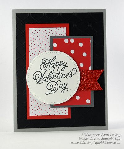 Valentine Swap card shared by Dawn Olchefske #dostamping (Shari Lackey)