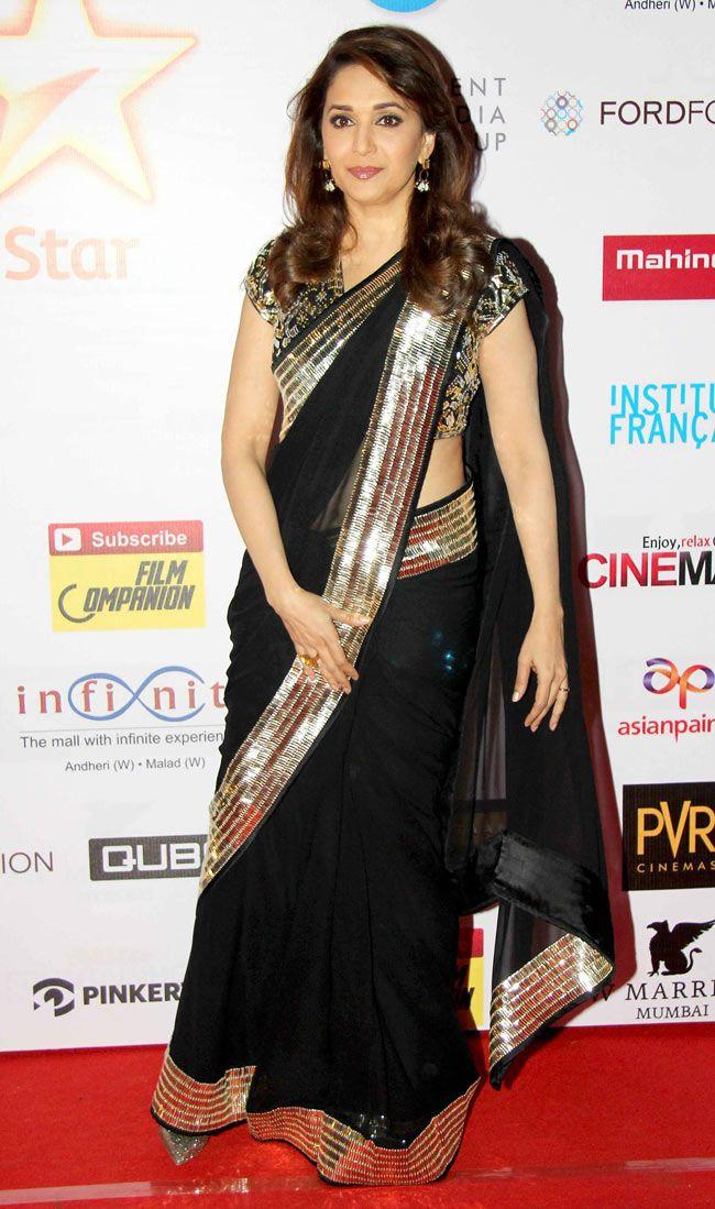 Madhuri Dixit at MAMI 2014 closing ceremony. #Bollywood #Fashion #Style #Beauty
