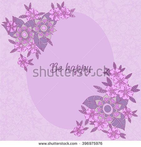 Vector flower background. Colorful botanic texture, detailed flowers illustrations. Doodle style, spring floral background. Hand drawn background with doodle flowers. - stock vector