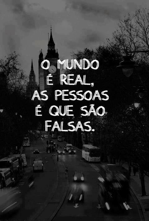 O mundo é real