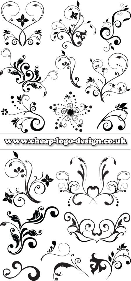 floral stencils www.cheap-logo-design.co.uk #floralgraphics #logodesign #graphics