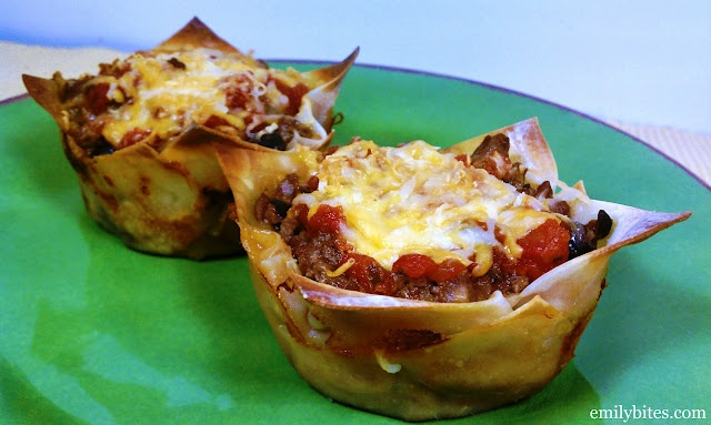 Taco Cupcakes!Wonton Wrappers, Weight Watchers, Tacos Cups, Taco Cupcakes, Weights Watchers Tacos, Wontons Wrappers, Tacos Cupcakes, Ww Recipe, Cupcakes Rosa-Choqu