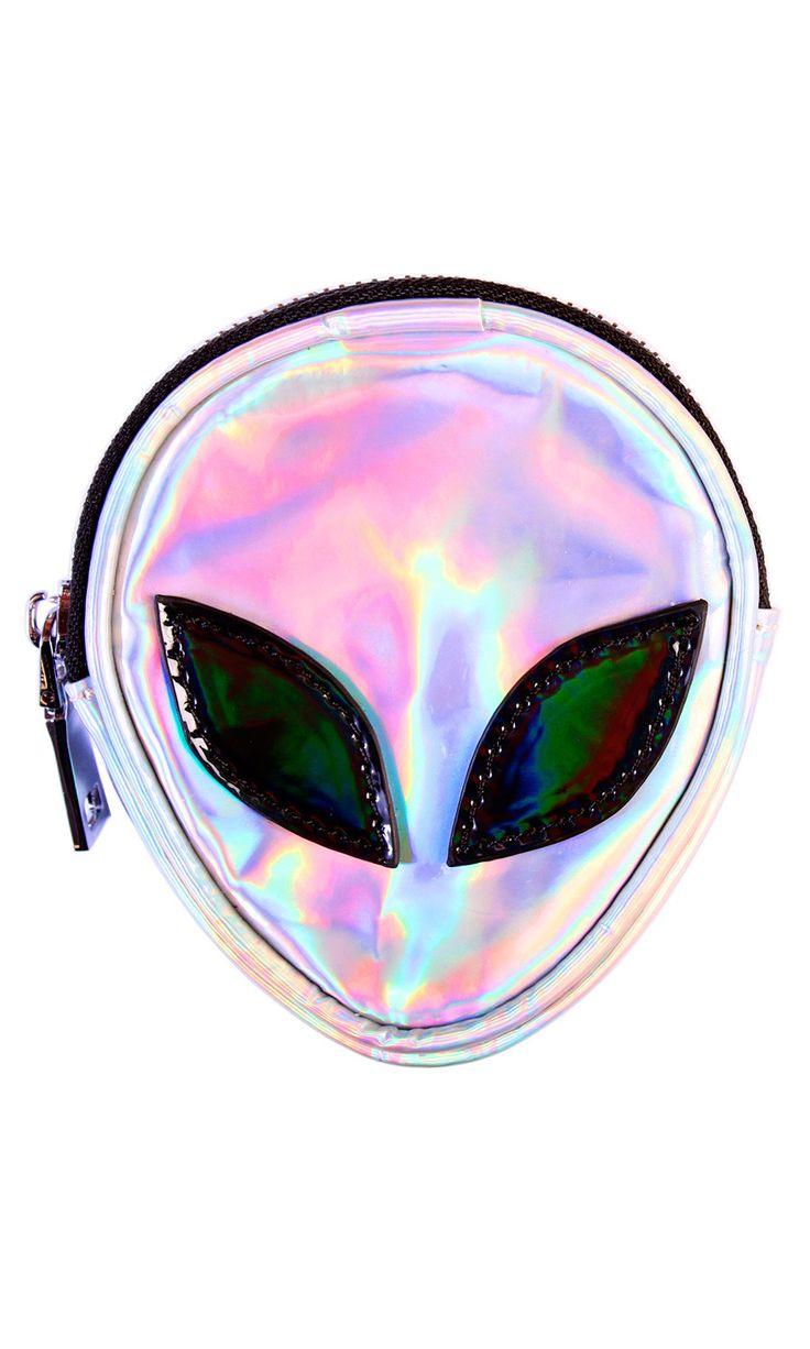 Alien Coin Purse #disturbiaclothing disturbia holographic space goth alternative occult grunge