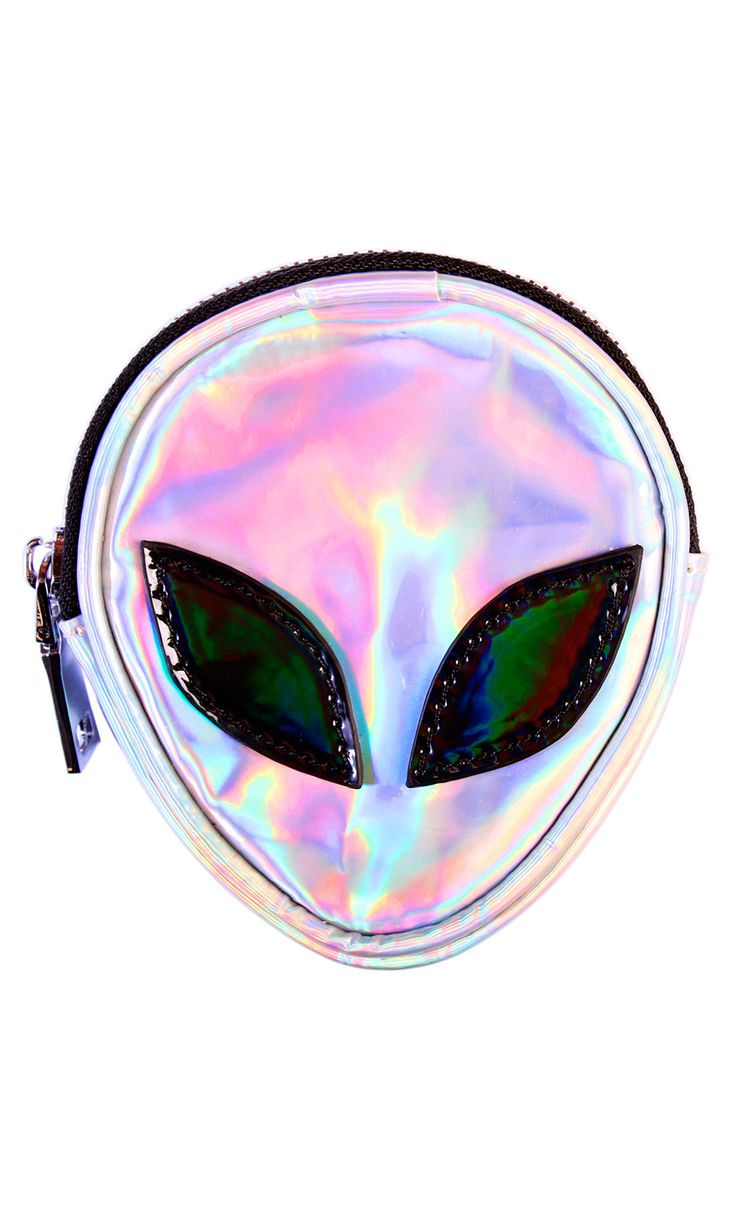 Alien Coin Purse #disturbiaclothing disturbia holographic space goth alternative occult grunge