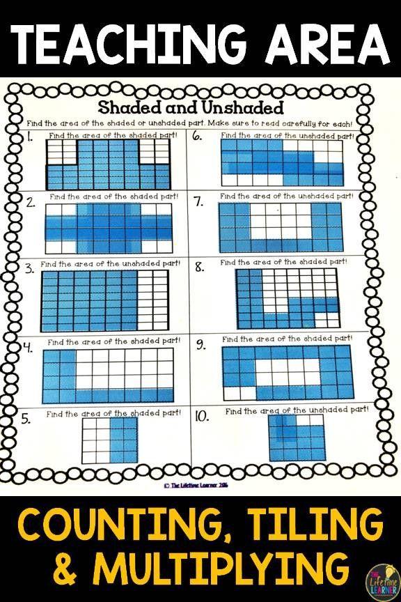 Area 3 Md 6 Area Worksheets Winter Math Activities Spring Math Activities