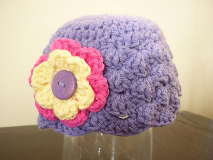Cotton Shell stitch beanie