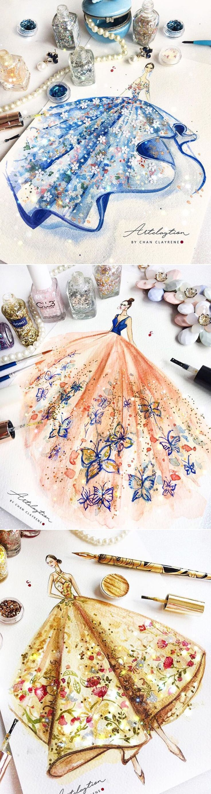 6 Mind-Blowing Fashion Illustrators You Need to Follow! Chan Clayrene