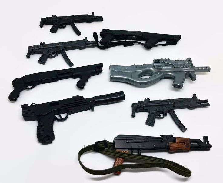 "12"" Military Action Figure Guns Toy Doll Accessory Weapons lot 8"
