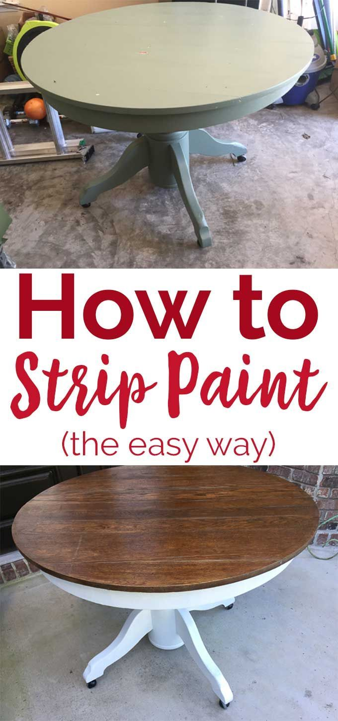 How to strip paint the easy way using citristrip paint stripper, great for refinishing furniture quickly! #diy