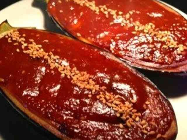 【母の味】米ナスの田楽赤味噌仕立ての画像