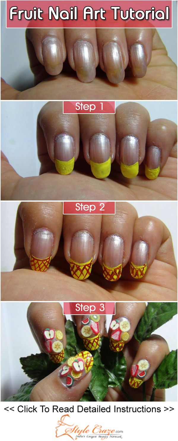 Best 25 fruit nail art ideas on pinterest fruit nail designs fruit nail art tutorial with detailed steps and pictures prinsesfo Gallery