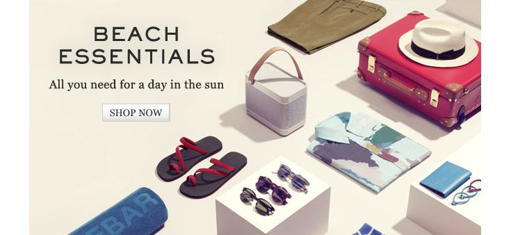 Beach Essentials: All you need for a day in the sun. Shop now // Mr Porter