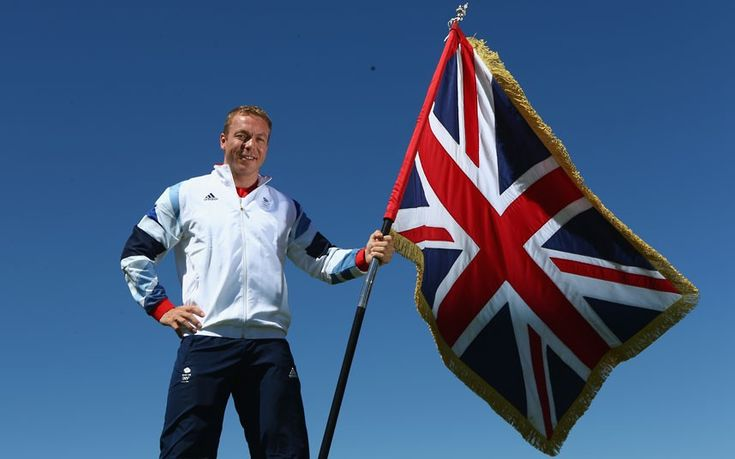 Sir Chris Hoy is announced as Team GB Olympic London 2012 Flag Bearer at Celtic Manor Resort  in Newport, Wales