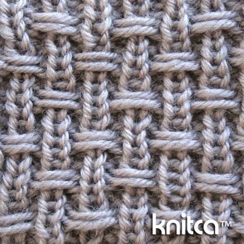 Right side of knitting stitch pattern – Slip Stitch 14 : www.knitca.com