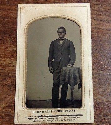 Tintype-Photo-African-American-Young-Black-Man-Burnham-039-s-Ferrotype
