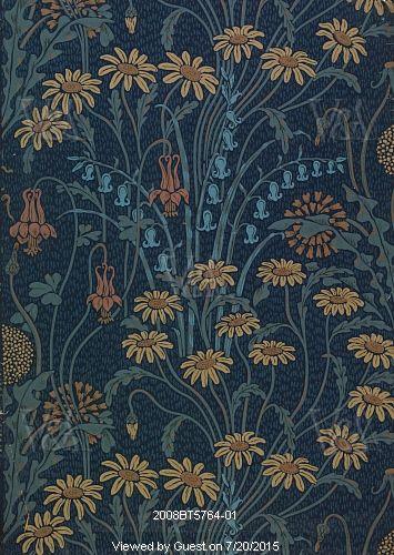 Dulce Domini wallpaper, by Walter Crane. England, 1904
