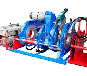 The MachineTech large diameter pipe welder is used for welding of polyethylene pipe. Butt fusion welding is the name given to hot plate welding of thermoplastic