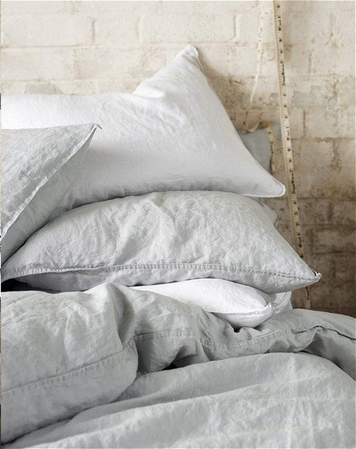 lots of lovely organic linen - I think you really need to go down the natural textiles route to be in keeping with all your other natural materials - polyester etc is banned !