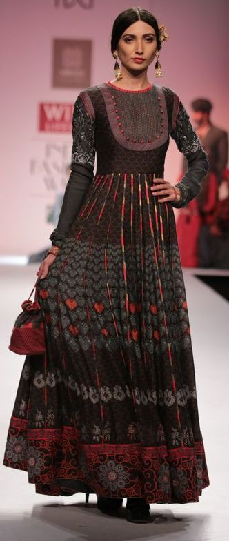 A Gorgeous anarkali. The neckline is so exquisite