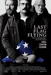 """Last Flag Flying"" - cast: Steve Carell Bryan Cranston Laurence Fishburne Kate Easton J. Quinton Johnson Richard Robichaux Yul Vazquez Tammy Tsai Lee Harrington"