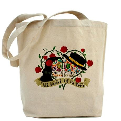 Wedding Gift Bag Ideas Mexico : ... Of The Dead Wedding Tote Bag on Day Of The Dead, Tote Bags and Totes