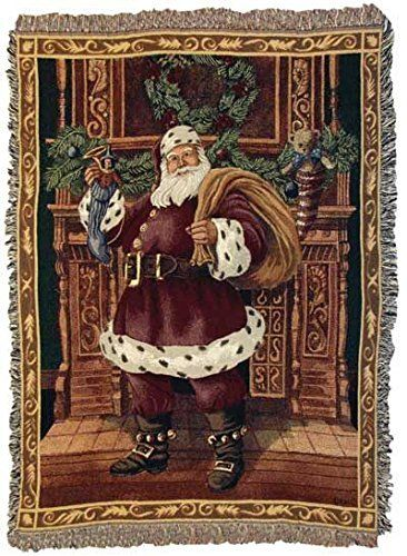 Fireplace Santa Christmas Holiday Tapestry Throw Blanket 50 x 60 >>> Want to know more, click on the image. (This is an Amazon Affiliate link and I receive a commission for the sales)