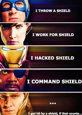 SHIELD, Captain America, Maria Hill, Iron Man, Nick Fury, Loki