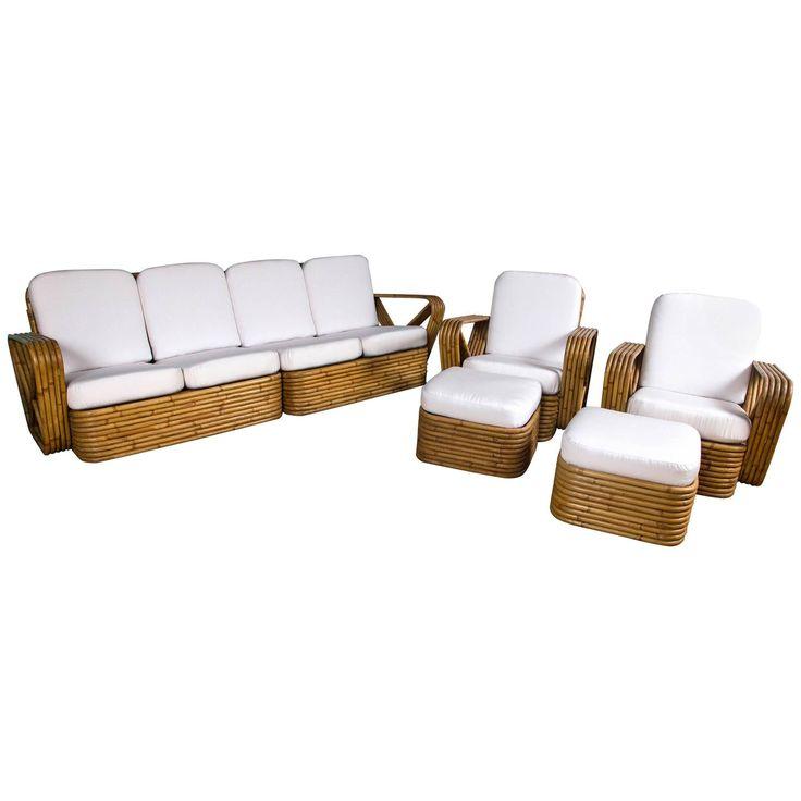 Rattan Set In The Style Of Paul Frankl. Garden FurnitureAntique ...