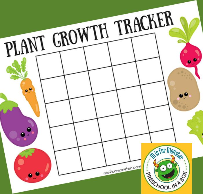 Plant Growth Chart For Kids A Free Printable For Kids ...