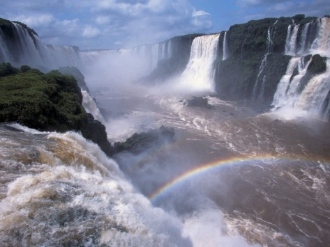 If you ever visit Argentina or Brazil. Iguazu Falls is a very impressive place you should visit. One biggest waterfalls in the world surrounded by the rainforest.