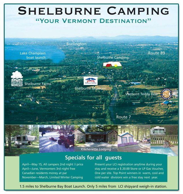 Shelburne Camping Area, Shelburne, Vermont