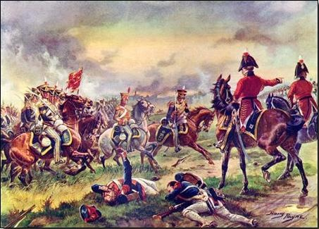"The 13th Light Dragoons at Waterloo 1815. Lord Hill - ""Drive them back 13th""."