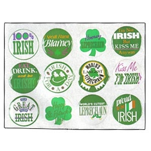 """St. Patrick's Day Buttons 1.5"""""""