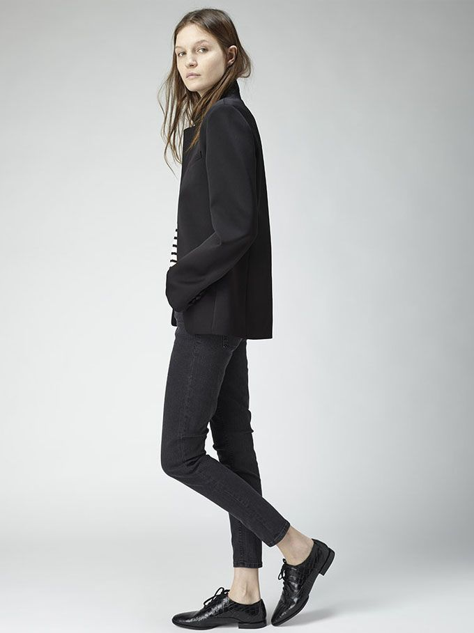 Rachel Comey Compass Dress | Androgynous style Loafers and Black style