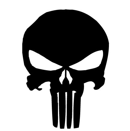 The Punisher superhero symbol