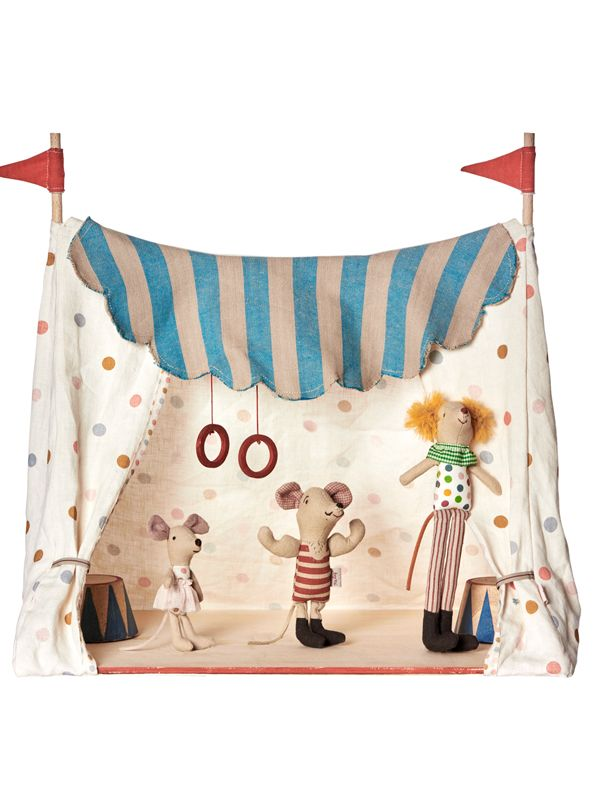 Show details for Maileg Circus Tent with 3 Maileg Circus Mice New for 2016