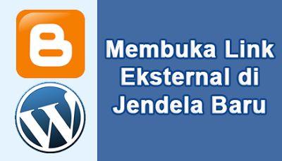 Cara Mencegah Link Internal Blog Terbuka pada Jendela Baru