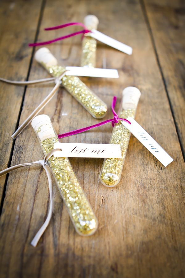 A glittery sendoff - wedding whimsy - www.theperfectpalette.com - Angie Capri Photography, Styled by Amanda O'Shannessy of One True Love Vintage Rentals
